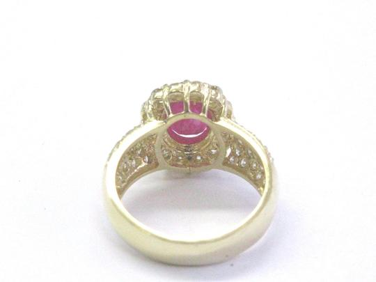 Other 18Kt Gem Ruby Diamond Yellow Gold Anniversary Jewelry Ring 4.12Ct Image 3