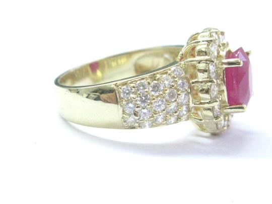 Other 18Kt Gem Ruby Diamond Yellow Gold Anniversary Jewelry Ring 4.12Ct Image 5