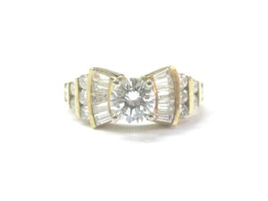 Other 18Kt Round & Baguette Diamond Yellow Gold Engagement Ring 1.86Ct