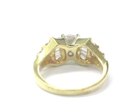 Other 18Kt Round & Baguette Diamond Yellow Gold Engagement Ring 1.86Ct Image 2