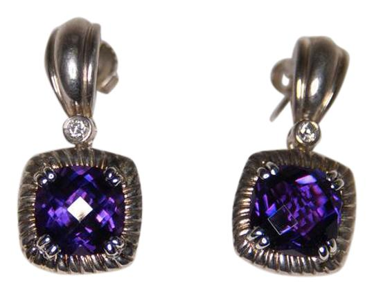 Preload https://img-static.tradesy.com/item/21002098/charles-krypell-purple-amethyst-and-diamond-14kt-and-white-gold-plated-silve-earrings-0-1-540-540.jpg