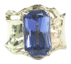 Other Fine Gem Tanzanite Yellow Gold Anniversary Solitaire Ring 5.43Ct