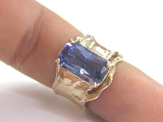 Other Fine Gem Tanzanite Yellow Gold Anniversary Solitaire Ring 5.43Ct Image 4