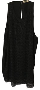 L'AGENCE Embellished Going Out Sexy Tank Top Black