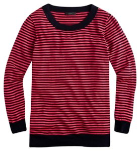 J.Crew Striped Preppy Wool 3/4 Sleeve Spring Sweater