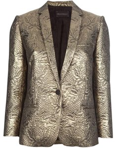 Zadig & Voltaire And Luxe Haute Couture Gold Blazer
