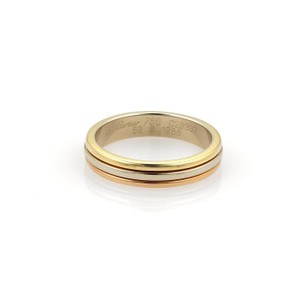 Cartier Cartier 18k Tricolor Gold 3.5mm Triple Stack Band Ring Size EU 52-US 6