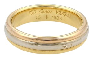 Cartier Cartier 18k Tricolor Gold 5mm 3 Stack Dome Band Ring Size EU 55-US 7