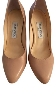 Jimmy Choo Leather Italian Nude Pumps