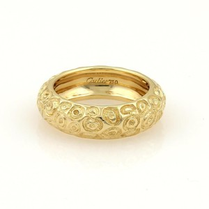 Cartier Vintage Cartier 18k Yellow Gold Fancy Textured Dome Band Ring SZ: 5.25