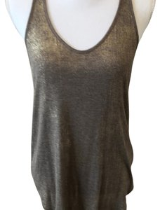 Merona Top Taupe & Gold