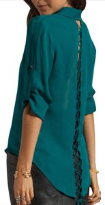 Jay Godfrey Button Down Shirt teal
