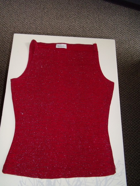 Charlotte Russe Top Red Sparkle