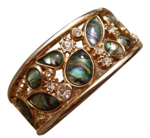 Japanese gold plated bangle Japanese(made in Japan) gold plated bangle with green and white fine quality stones