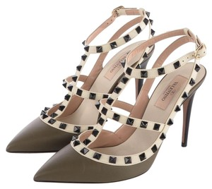 Valentino Army Green / Ivory / Black Pumps