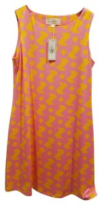 Julie Brown short dress Pink and yellow on Tradesy