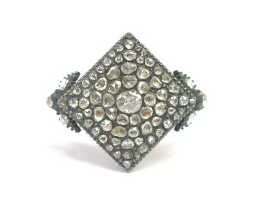 Other Fine VINTAGE 1800's Rose Cut Diamond Square Ring SS/14KT 1.62Ct Image 0