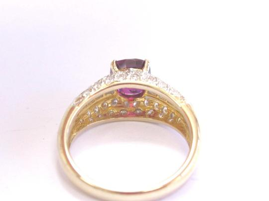 Other 18Kt Gem Ruby Multi Shape Diamond Yellow Gold Soitaire W Accent Ring 2 Image 1