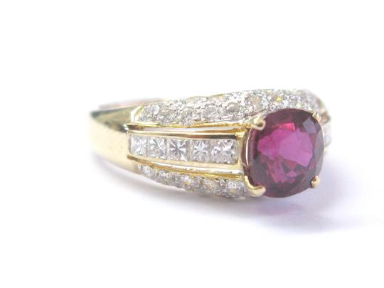 Other 18Kt Gem Ruby Multi Shape Diamond Yellow Gold Soitaire W Accent Ring 2 Image 2