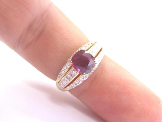 Other 18Kt Gem Ruby Multi Shape Diamond Yellow Gold Soitaire W Accent Ring 2 Image 3