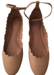 Chloé Ballet Italy Scalloped Ankle-strap Pink Flats