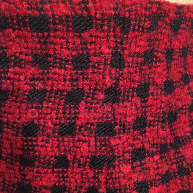 Ann Taylor Wool Plaid Skirt Red & Black Image 1