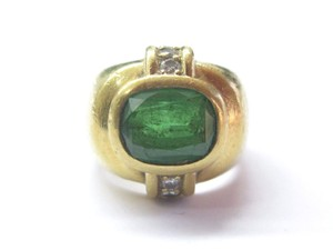 Other 18Kt Tsavorite Diamond Yellow Gold Jewelry Ring 3.18Ct