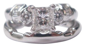 Other Fine Princess Cut Diamond Engagement Set Ring WG 1.22CT