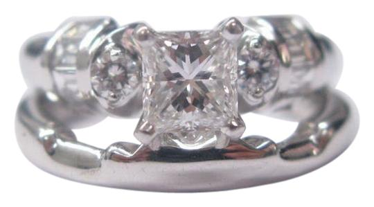 Other Fine Princess Cut Diamond Engagement Set Ring WG 1.22CT Image 0