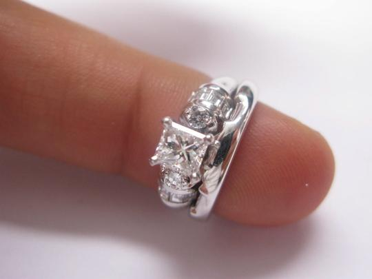 Other Fine Princess Cut Diamond Engagement Set Ring WG 1.22CT Image 3