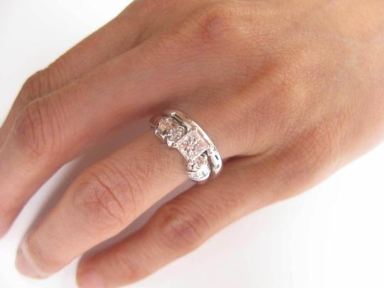 Other Fine Princess Cut Diamond Engagement Set Ring WG 1.22CT Image 4