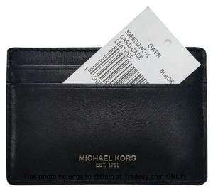 Michael Kors SPECIAL!!! (NWT) MK Leather Card Case Credit Card Holder Wallet