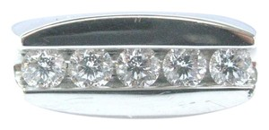 Movado Movado Mens Platinum Round Diamond 5-Stone Jewelry Ring 1.00Ct