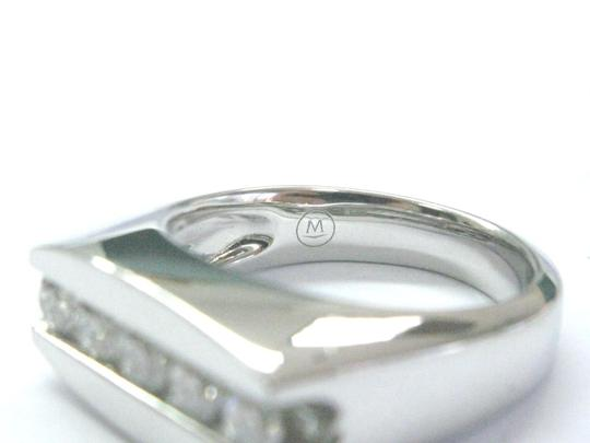Movado Movado Mens Platinum Round Diamond 5-Stone Jewelry Ring 1.00Ct Image 2