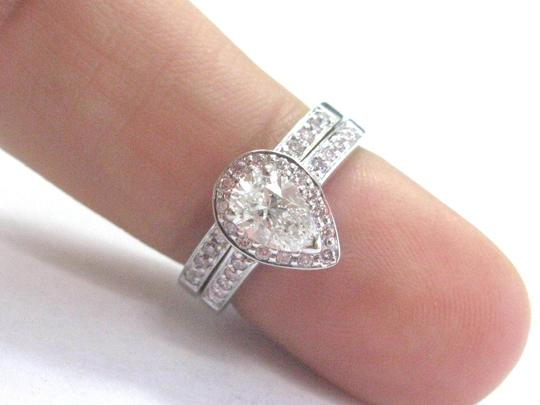 Other 18Kt Pear & Pink Diamond White Gold Engagement Set 1.02Ct NATURAL PINK Image 4