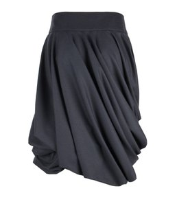 AllSaints Bubble Wool Structured Asymmetrical Volume Skirt gray
