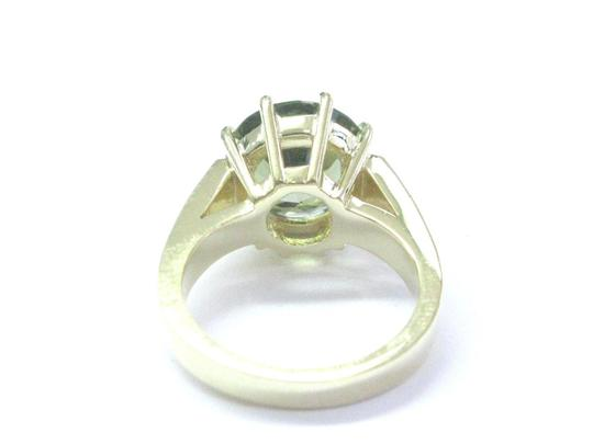 Other 18Kt Gem Green Tourmaline Diamond Solitaire With Accent YG Jewelry Rin Image 2