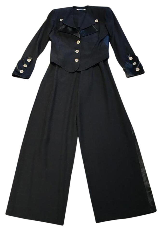 1fbd4f826b1b5 Other Nautical Black Pants Suit with Gold and Crystal Buttons (Size 6) ...