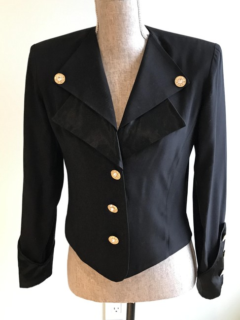 Other Nautical Black Pants Suit with Gold and Crystal Buttons (Size 6) Image 2
