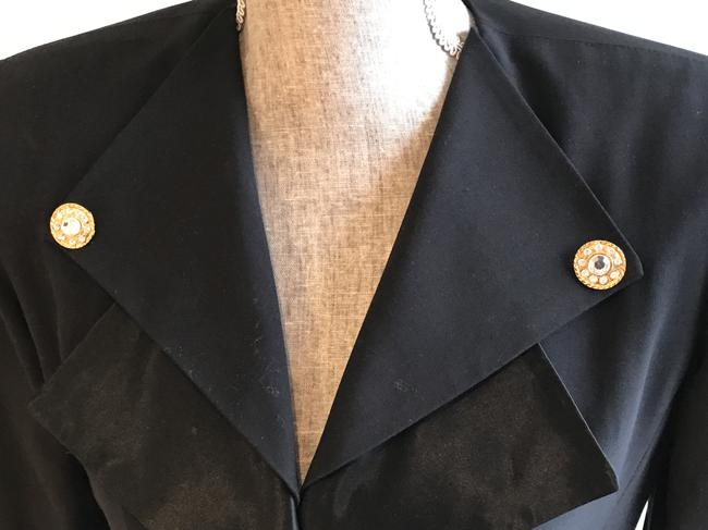 Other Nautical Black Pants Suit with Gold and Crystal Buttons (Size 6) Image 4