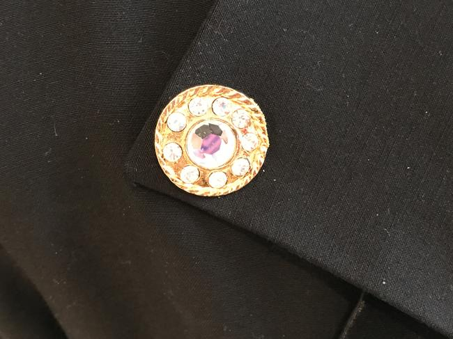 Other Nautical Black Pants Suit with Gold and Crystal Buttons (Size 6) Image 6
