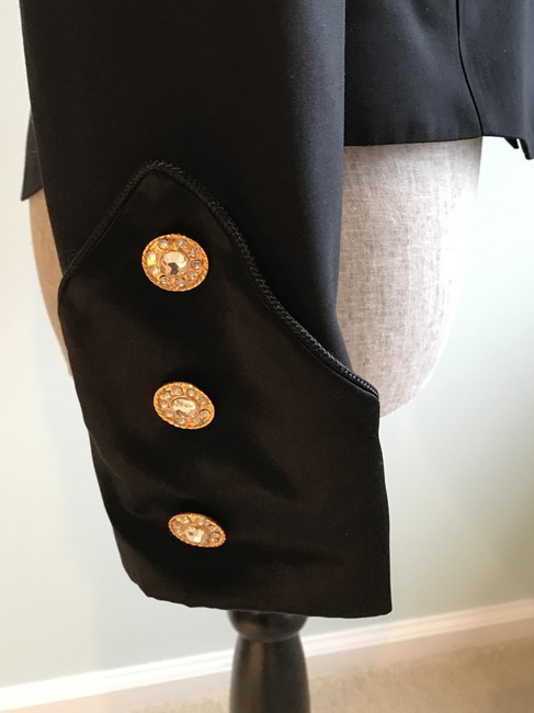 Other Nautical Black Pants Suit with Gold and Crystal Buttons (Size 6) Image 7