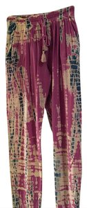 Gypsy05 Relaxed Pants pink , blue, white