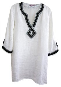 Calypso St. Barth Linen Beads Beach Caftan Tunic