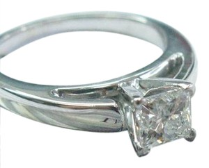 Other Fine THE LEO Princess Cut Diamond Solitaire Engagement Ring .69Ct G-SI