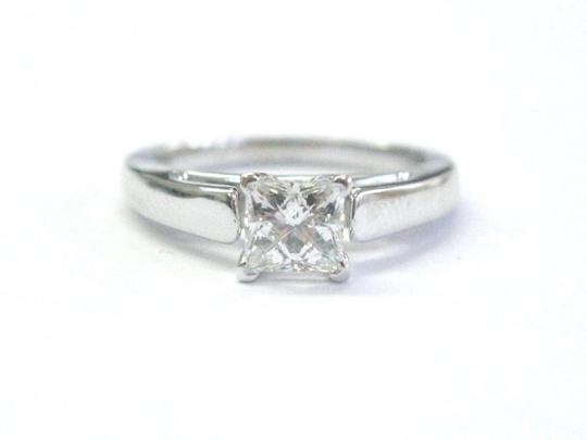 Other Fine THE LEO Princess Cut Diamond Solitaire Engagement Ring .69Ct G-SI Image 1