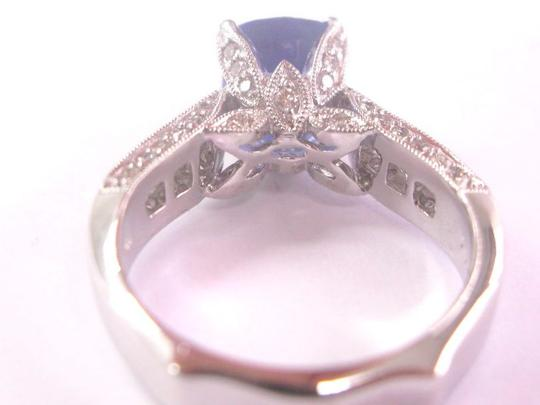 Other 18KT Gem Tanzanite Diamond Solitaire W Accents Jewelry Ring WG 2.97Ct Image 3