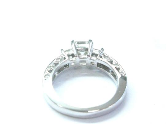 Other Fine Asscher & Princess Cut Diamond 3-Stone Engagement White Gold Ring Image 2