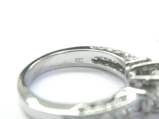 Other Fine Asscher & Princess Cut Diamond 3-Stone Engagement White Gold Ring Image 3