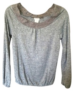 Mossimo Supply Co. Lace Trim Top Gray
